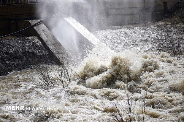 سد «اکباتان» همدان سرریز کرد/ افزایش بارندگی های امسال