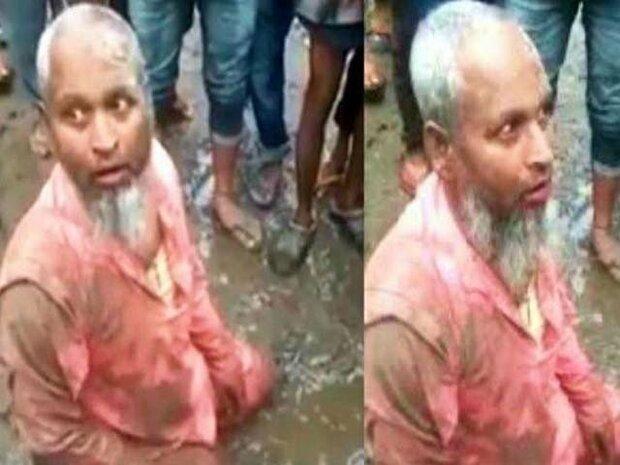 بھارت میں ہندو دہشت گردوں نے ایک مسلمان کو سور کا گوشت کھلا دیا
