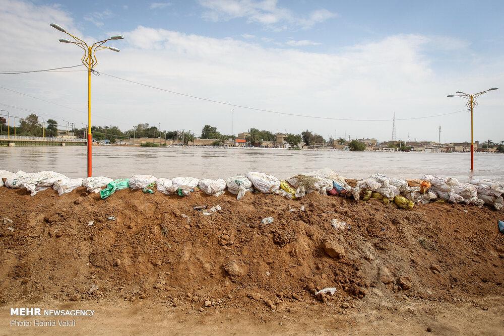 آماده باش در خوزستان پایان نیافته است/بازگشایی بلوار ساحلی اهواز
