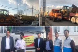 ارسال ماشین آلات و اقلام به ارزش ۱۲ میلیارد از شهریار به خوزستان