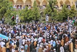 حوزہ علمیہ قم ميں سپاہ کی حمایت میں طلاب اور علماء کا عظيم الشان اجتماع