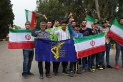 İran'da Devrim Muhafızları için insan zinciri