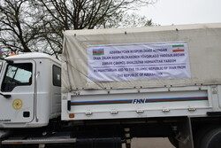 Azerbaijan's humanitarian aid delivered to Iran Red Crescent