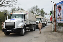 Azerbaijan's humanitarian aid arrives in Iran
