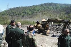 فرمانده سپاه قدس گیلان از مناطق سیل زده مازندران بازدید کرد