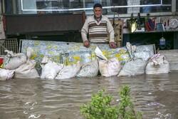 بارش باران و سیلاب در بجنورد