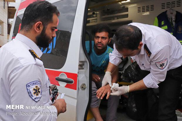 Sağlık ekipleri sel bölgesinde hizmet yapıyor