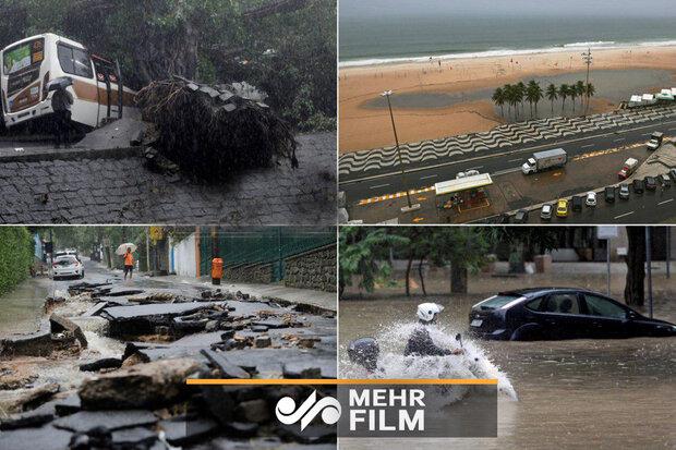 برازیل میں تباہ کن سیلاب