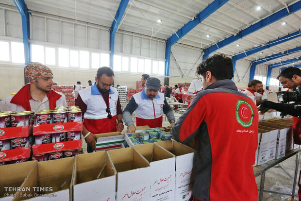 The Iranian Red Crescent Society's aid to flood victims
