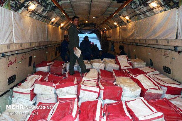 ارسال هوايي محمولههاي امدادي فارس به خوزستان