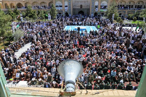 تجمع حوزویان قم در حمایت از سپاه پاسداران