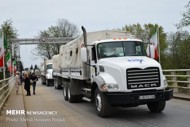 Azerbaijan's humanitarian aid arrives in Iran