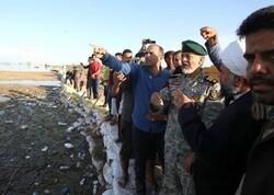 امیر سیاری از مناطق سیل زده سوسنگرد بازدید کرد