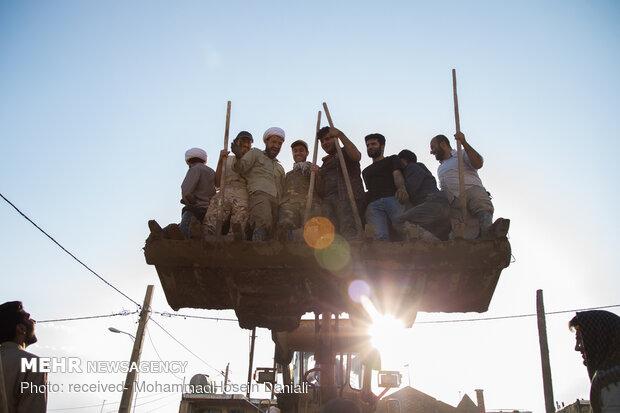 أنشطة المجاهدين في منطقة بلدختر المنكوبة بالسيول