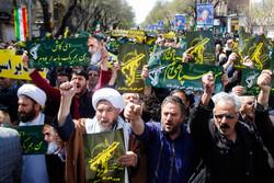 Tebriz halkından Devrim Muhafızları'na büyük destek