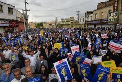 شیراز میں سپاہ پاسداران انقلاب اسلامی کی حمایت میں شاندارمظاہرہ