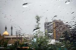بارش بیش از ١٥ میلیمتر باران در قم