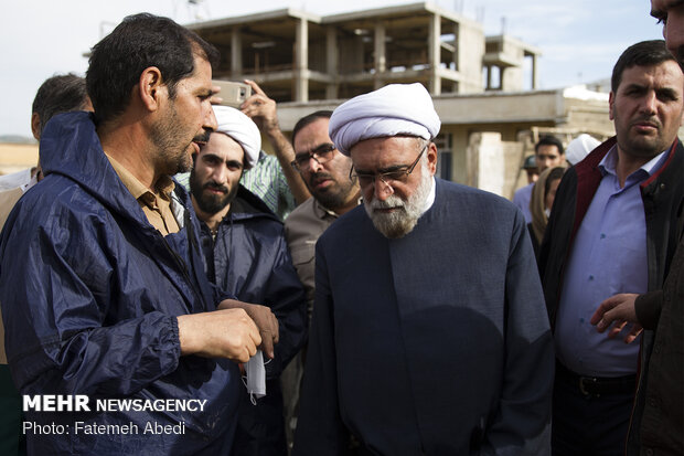 سفر حجت الاسلام احمد مروی تولیت آستان قدس رضوی به مناطق سیل زده پلدختر