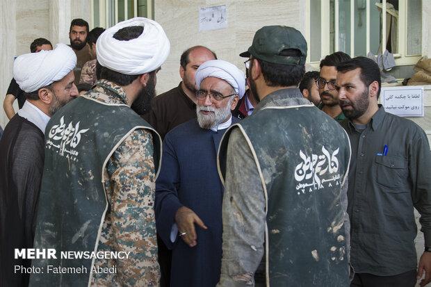 Custodian of Astan-e Quds Razavi visits flood-hit areas in Pol-e Dokhtar