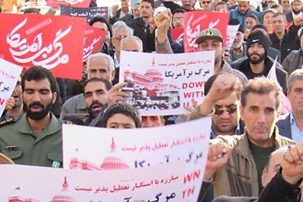 راهپیمایی حمایت از سپاه در استان بوشهر برگزار شد