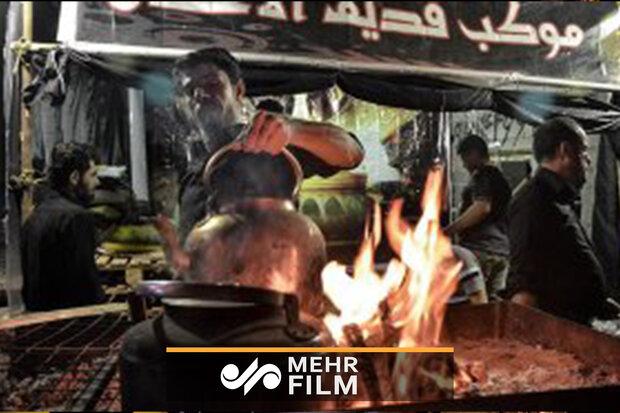 موکب اهل بصره در خوزستان برای طبخ غذا برپا شد