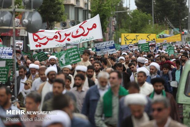 İran'da ABD'yi kınama gösterisi