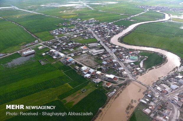"""تبعات الفيضانات في قرى """"آق قلا"""""""