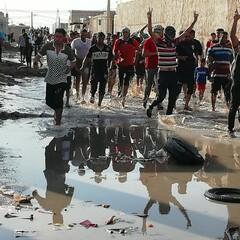 سیلاب کو روکنے میں کامیابی کے بعد عین دو علاقہ کے لوگوں میں خوشی کی لہر دوڑ گئی