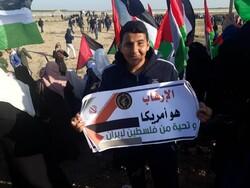 غزہ میں سپاہ پاسداران انقلاب اسلامی کی حمایت میں مظاہرہ