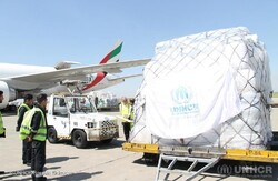 UNHCR Iran air freight of aid lands in Tehran to contribute towards government-led flood relief efforts