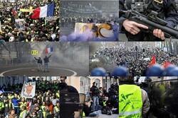 فرانس میں پیلی جیکٹ مظاہرین کا بائیسویں ہفتے بھی احتجاج جاری