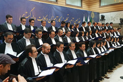 مراسم تحلیف ۵۷ وکیل پایه یک دادگستری در قزوین برگزار شد