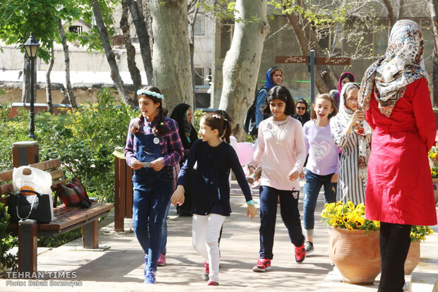 A spring day at Iranian Art Museum Garden