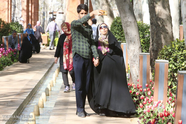 A spring day at Iranian Art Museum Garden