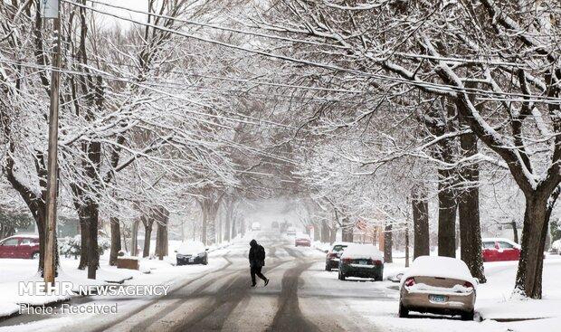 برف بهاری در آمریکا