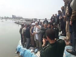 سردار غیب پرور از سیل بند نیازآباد بندرترکمن بازدید کرد