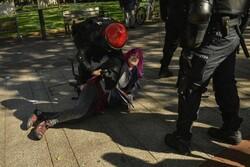 اعتراضات خشونت بار در شمال اسپانیا در آستانه انتخابات پارلمانی