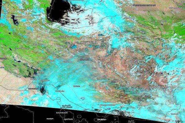 تصاویر فضایی ارسالی از سازمان ملل درباره سیل اخیر ایران