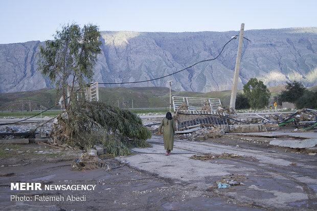 خانه تخریب شده کرمپور در روستای چم گرداب شهرستان پلدختر