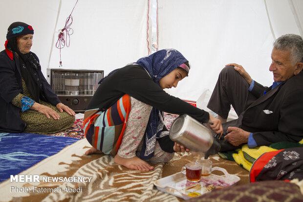 چادر سرتیپ کرمپور در روستای چم گرداب