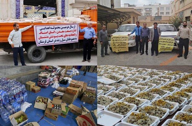 دستگاههای اجرایی استان بوشهر کمک خود را برای سیلزدگان فرستادند