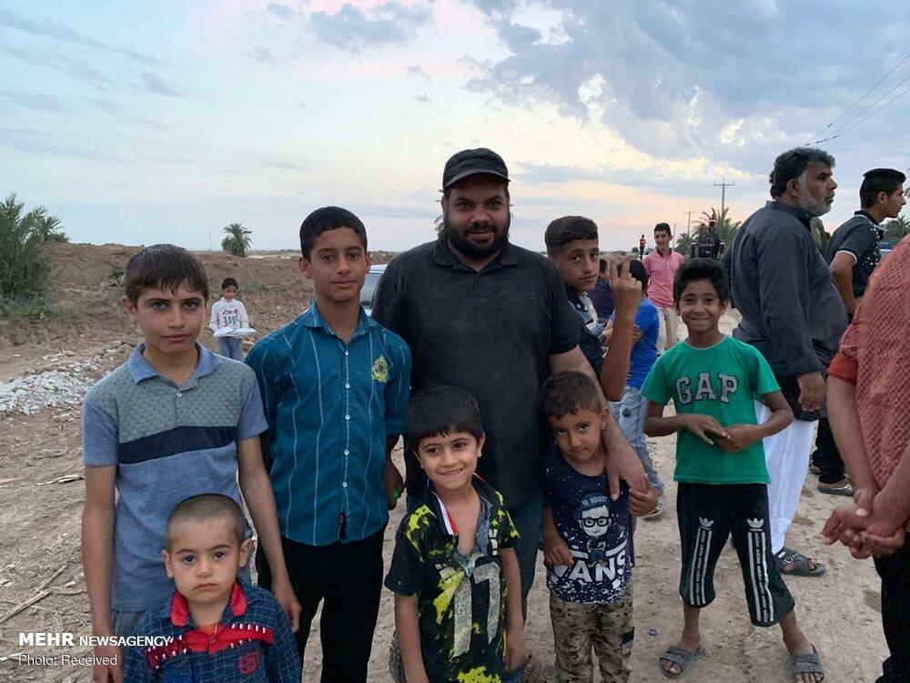 فعالیت بحرینی های مقیم ایران در مناطق سیل زده خوزستان