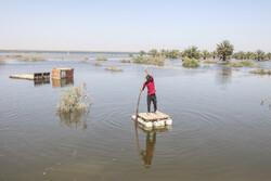 سوسنگرد کے دیہاتوں میں سیلاب سے بڑے پیمانے پر تباہی