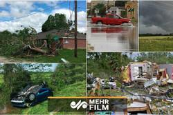 امریکہ میں طوفان سے بڑے پیمانے پر تباہی