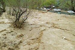 بروز سیلاب در جنوب کرمان/ خسارت به روستای زهمکان