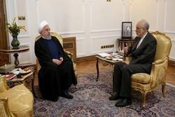 صالحي يقدم تقريرا للرئيس الإيراني عن اداء منظمة الطاقة الذرية