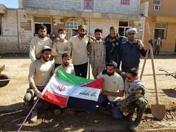 سرودخوانی نیروهای عراقی جهادگر در پلدختر