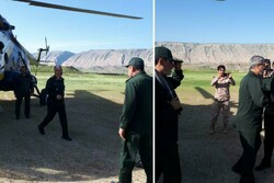 بازدید سردار غیب پرور از مناطق سیل زده ماژین