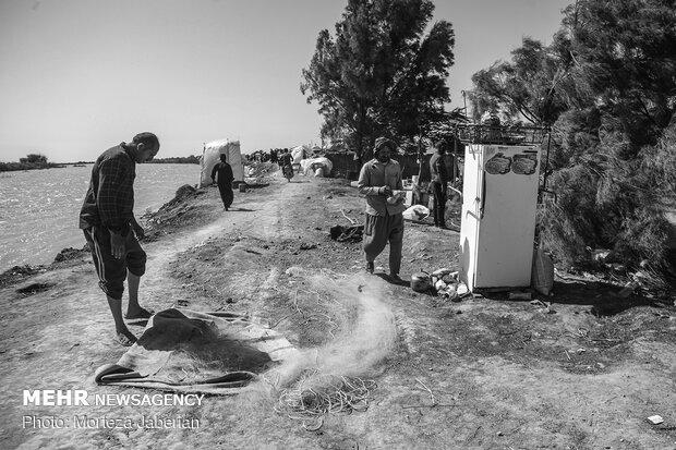 روستاهای سیل زده سوسنگرد