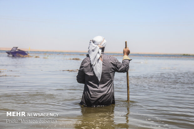 """خسائر سيل خوزستان في قرى """"سوسنكرد"""""""